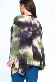 Plus Size Tie Dye Thermal Top