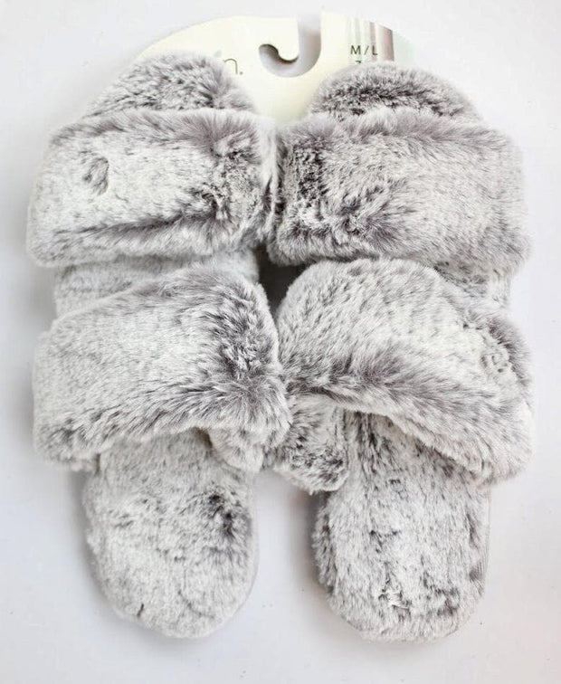 Two Straps Fur Slippers