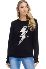 Cracked Lightning Graphic Top