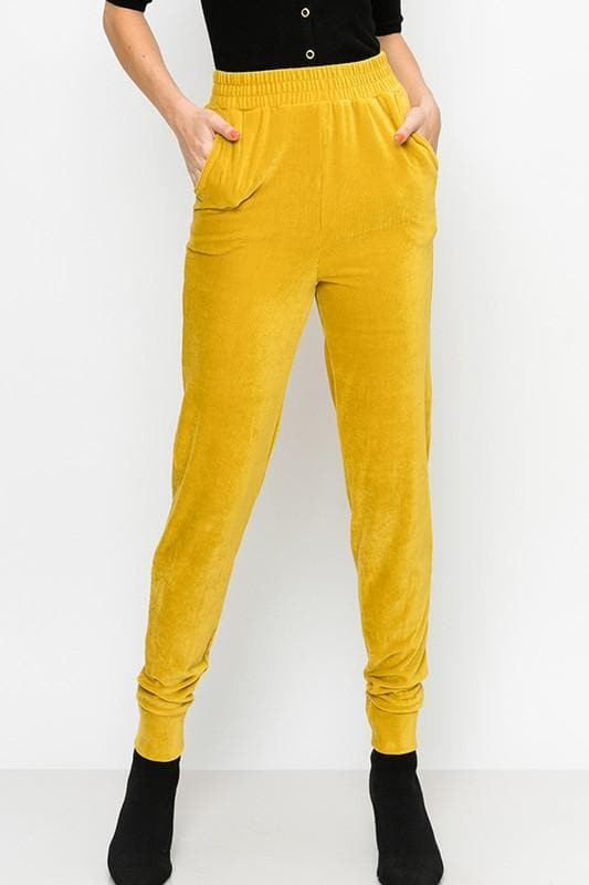 Soft Ribbed Jogger Pants