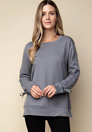String Sleeve Sweater