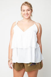 Plus Size Tiered Ruffle Tank Top