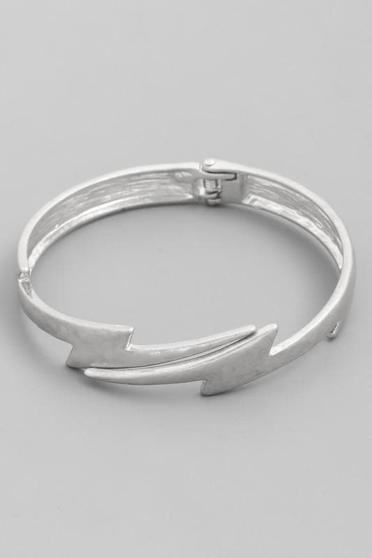 Lightning Hinged Bangle Bracelet