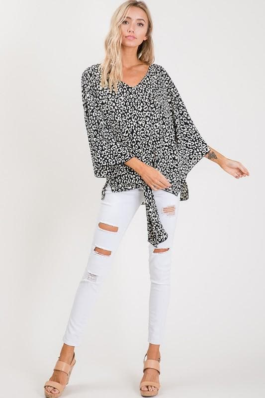 Kimono Style Top with Front Tie