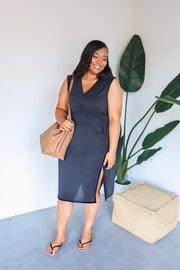 Plus Size Modal Dress With Side Slit