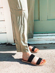 Two Strap Espadrille Slide On Sandal
