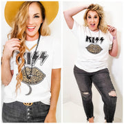 Kiss Leopard Graphic Tee (S-3XL)