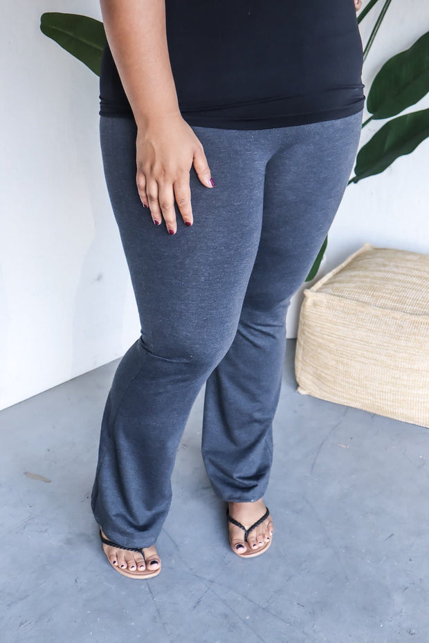 Plus Size Fold Over Yoga Pants