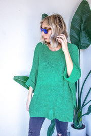 3/4 Length Sleeve Knit Top