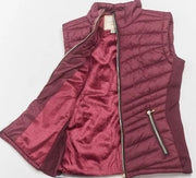 Sleeveless Solid Vest with Front Zipper