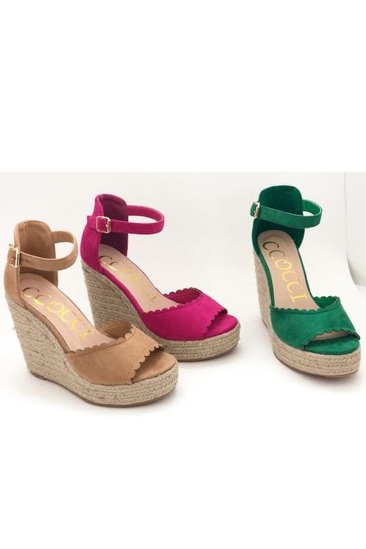 Jessie - Wedge Espadrille Sandals