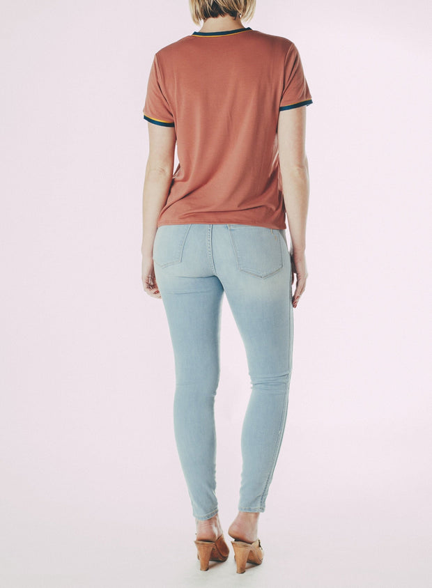 Skinny Fit Double Felled Side Seams Jeans (Cresent Drive)