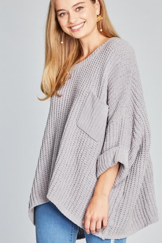 Pol - Oversized Chenille Pullover Sweater