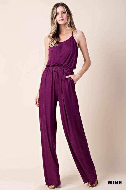 Sleeveless Wide Leg Jumper
