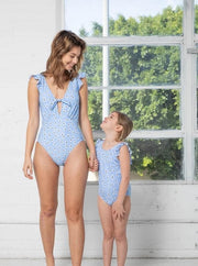 Tank One Piece with Ruffles Kids Swimsuit