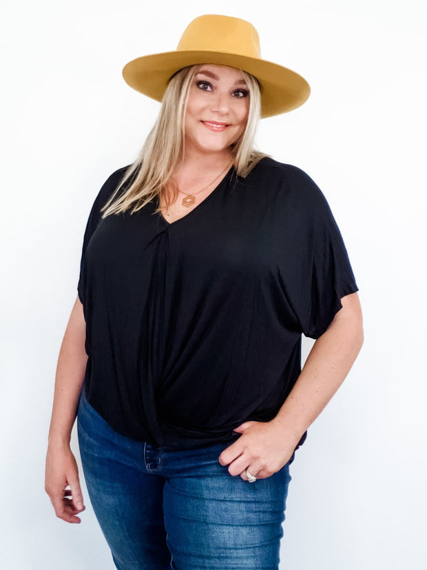 Relaxed Fit Surplice Top (S-2XL)