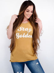 Short Sleeve Stay Golden Graphic Tee