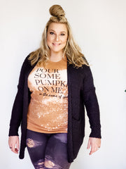Plus Size Long Sleeve Knit Cardigan