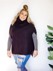 DOORBUSTER Turtle Neck Poncho Sweater