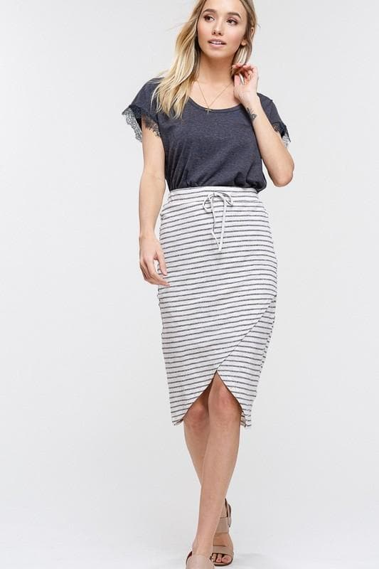 Fire and Ice Jersey Wrap Skirt