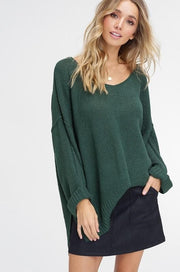 Light Weight V-Neck Loose Fit Pullover Sweater