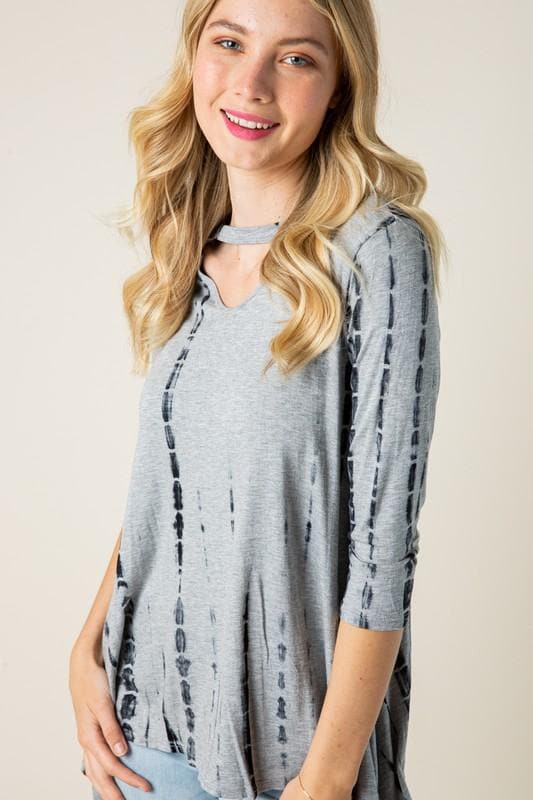 Plus Size Baby Got Neck - Tie Dye Tunic