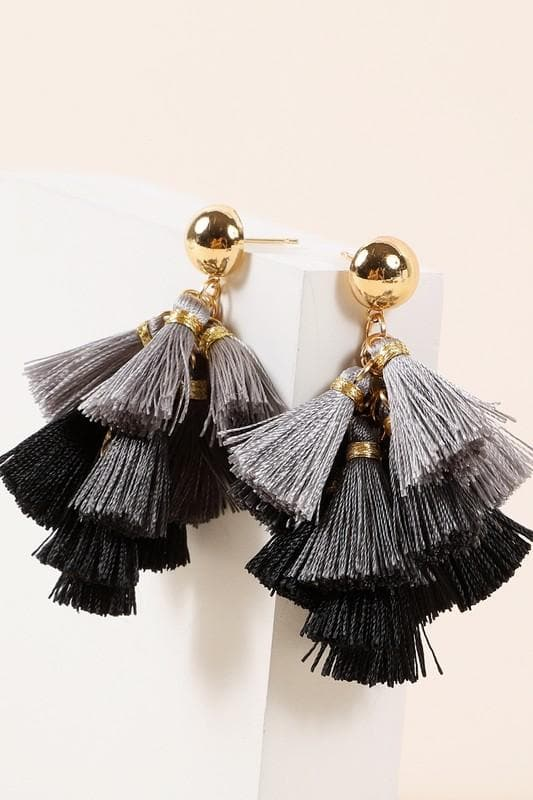 Mini Tassels Dangling Earrings