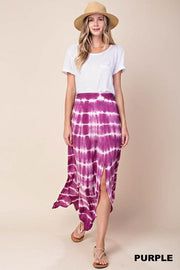 Tie Dye with Slit Maxi Skirt