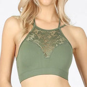 Doorbuster High Neck Lace Cutout Bralette (S-3XL)