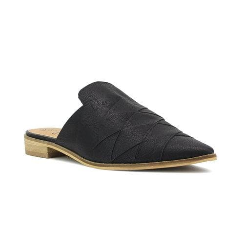 Casual Wrap Flat Leather Mules