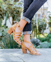 Noelle - Braided Strappy Heel
