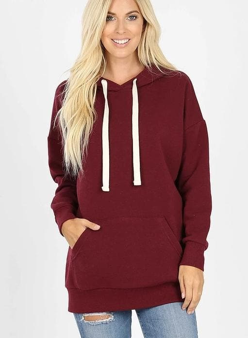 Plus Size Doorbuster Long Sleeve Hoodie Sweatshirts with Kangaroo Pockets