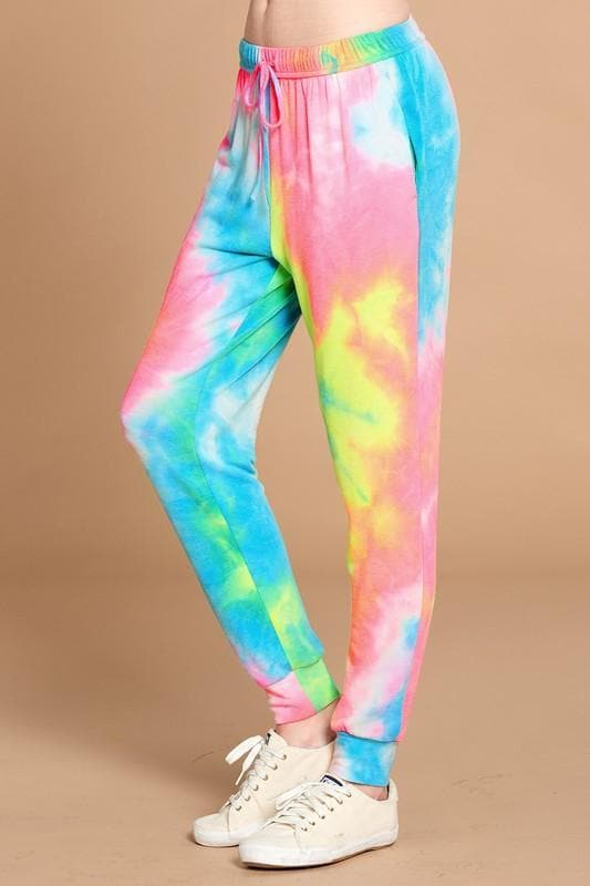 Tie-Dye Printed French Terry Joggers (S-3XL)