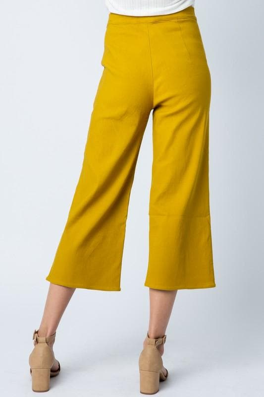 Wide Leg Trouser with Straight Pockets