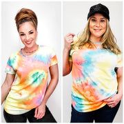 Tie Dye Short Sleeve Top - (S-3XL)