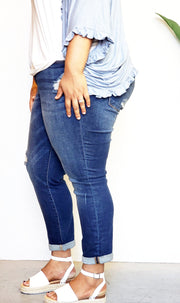 Plus Size Judy Blue Minimalist Girlfriend Jeans