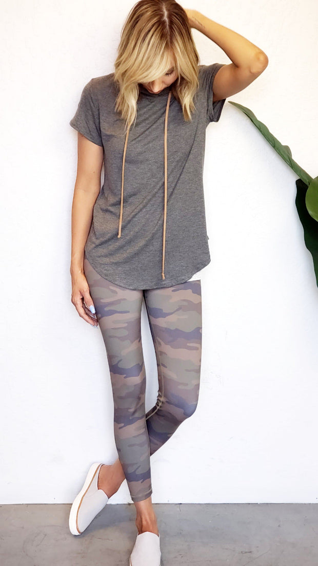 Active High Rise Camo Leggings with Pocket
