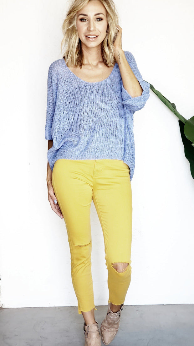 High Rise Mustard Skinny Jeans