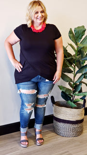 Judy Blue - Plus Size Lifestyle Destroyed Mid-Rise Skinny Jeans
