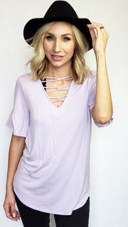 Ruffled Sleeve Top