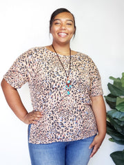 Plus Size People of Freedom Leopard Top
