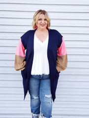 Plus Size Cardigan with Pocket Detail