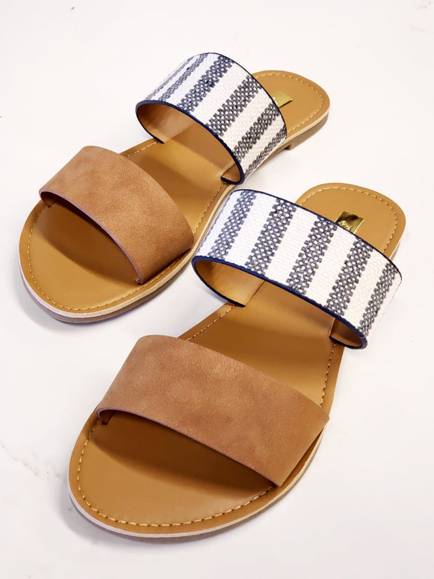 Two Straps Mix Mach Look Sandals