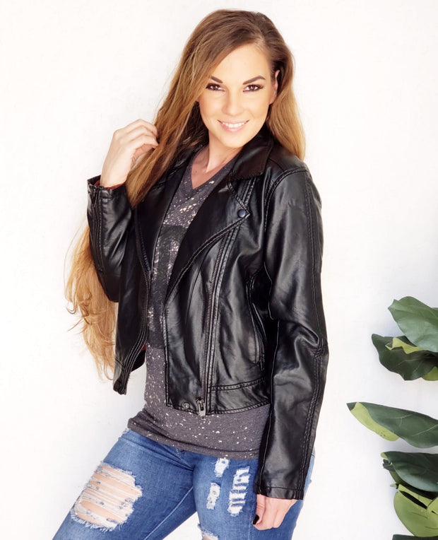 Arcadia Faux Leather Jacket