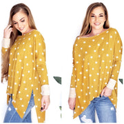 Star Print French Terry Loose Fit Top