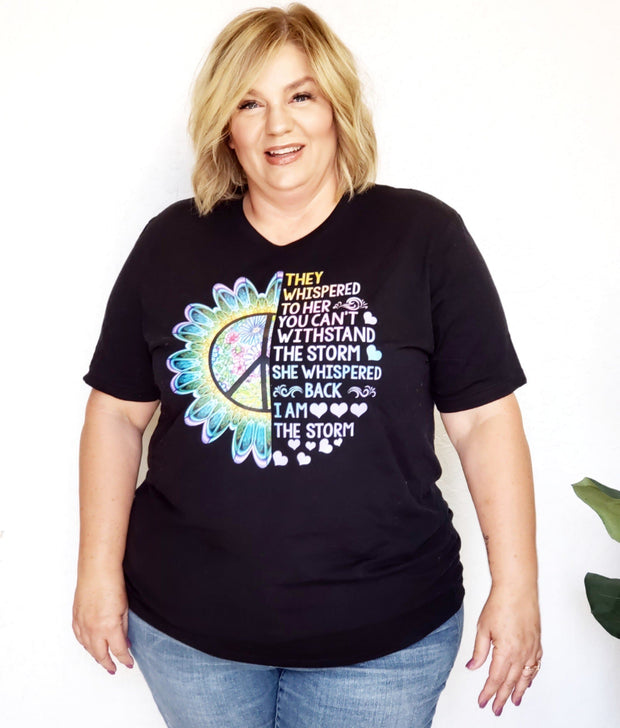 Plus Size She Is The Storm Graphic Tee