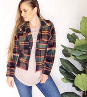 Plaid Jacket With Zipper