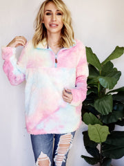 Cotton Candy Rainbow Sherpa Pullover