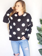 Polkadot Oversized Sweater Pullover