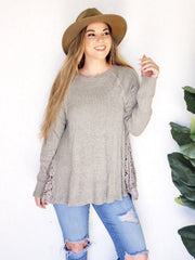 Easel - Crochet Side Thermal Top
